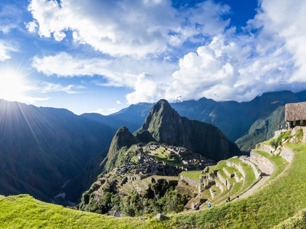 The Lost City of the Incas or Machu Pichu beautiful site in Peru.
